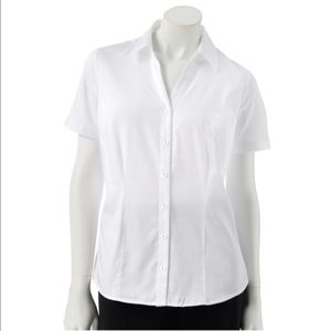 212 Collection Solid Sateen Shirt White New